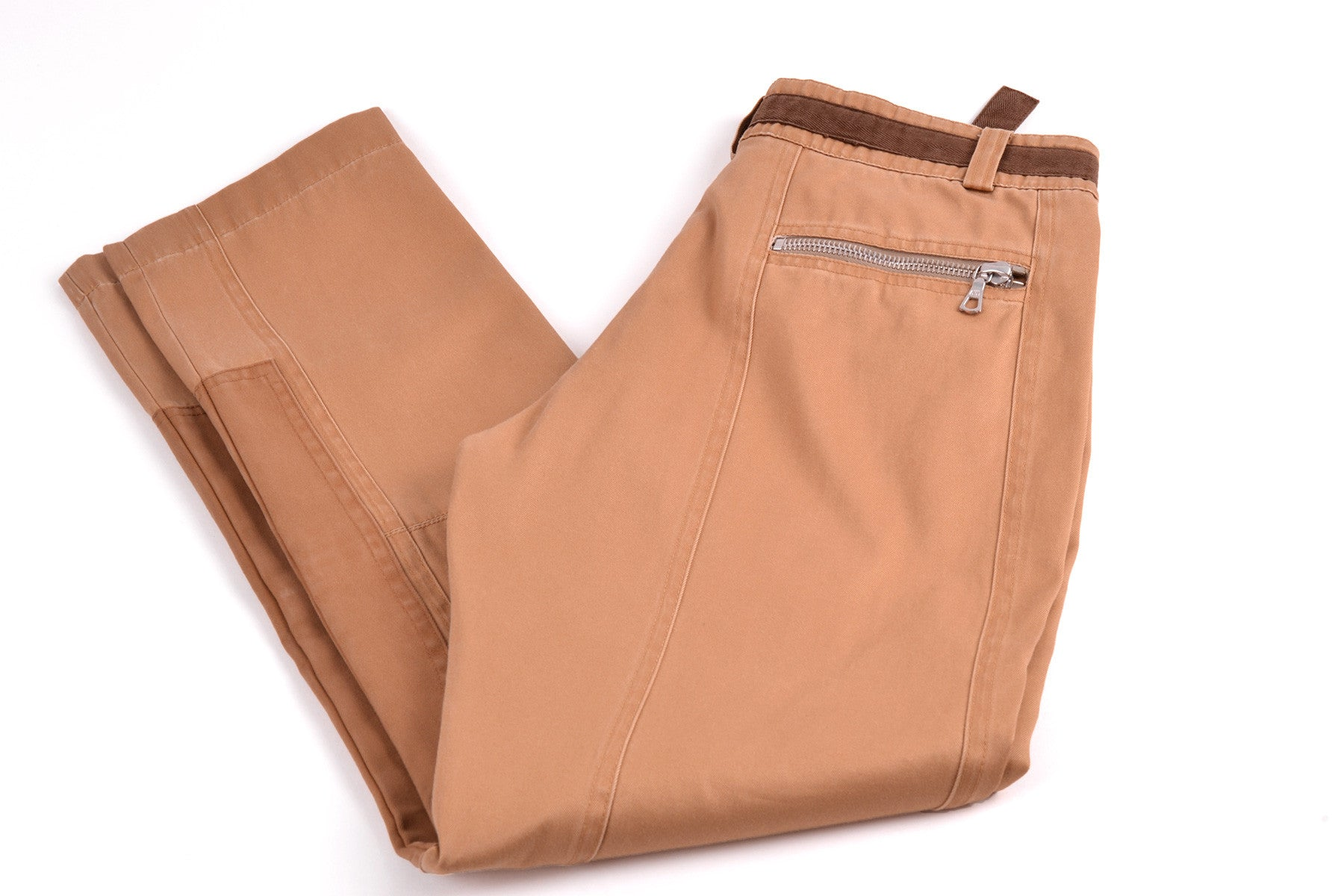 2011 S/S RIDERS CHINO TROUSERS WITH ATTACHED CANVAS BELT