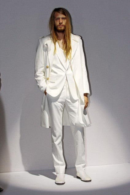 2010 S/S SLIM EVENING TROUSERS