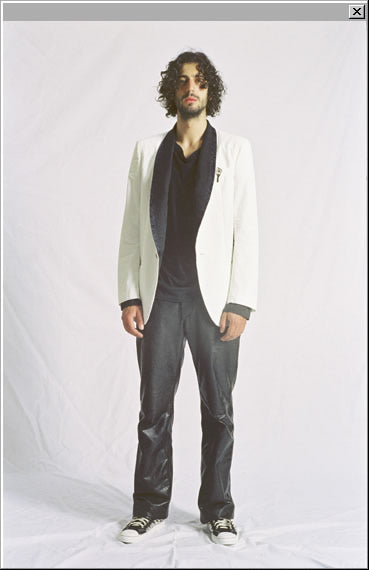 2006 S/S EVENING JACKET IN WHITE TWILL COTTON
