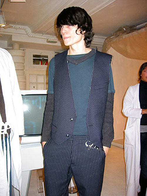 2003 A/W ARTISANAL REASSEMBLED MILITARY SWEATER SHIRT HYBRID