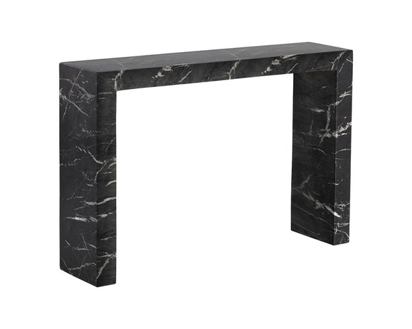 AXLE  MARBLE LOOK CONSOLE TABLE