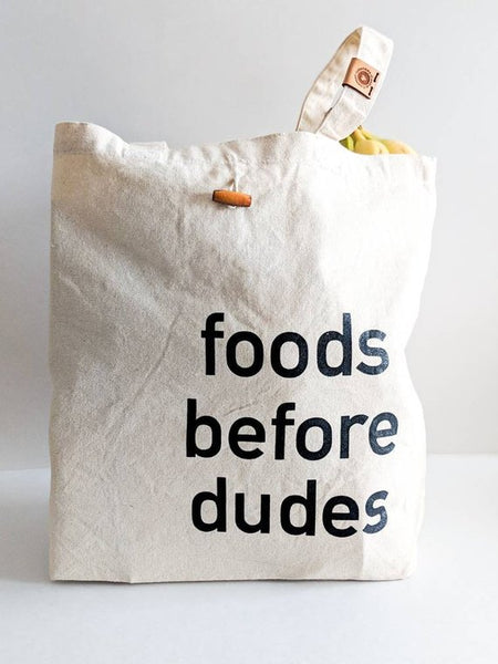 FOODS BEFORE DUDES TOTE