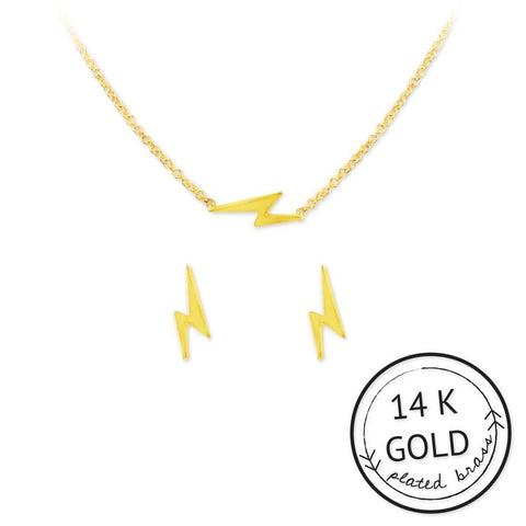 Be Electric Necklace and Earring Set