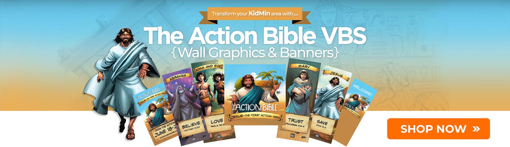 Action Bible VBS posters and resources