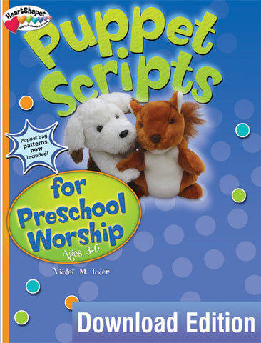 HeartshaperPuppet Scripts for Preschool Worship Download Cover Image