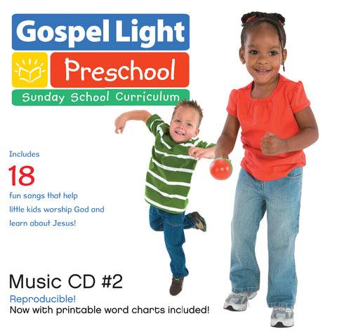 Preschool Music CD #2 - Preschool & Pre-K/Kind Ages 2-5 - Year B | Gospel Light
