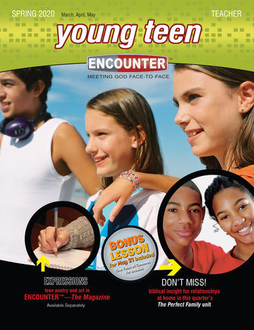 Encounter Sunday School Lessons Young Teen Teacher Guide Spring Cover