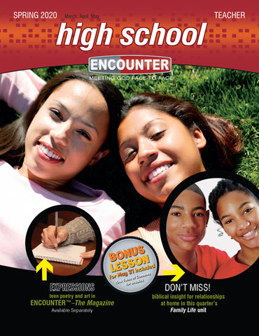 Encounter Sunday School Lessons High School Teacher Guide Spring Cover
