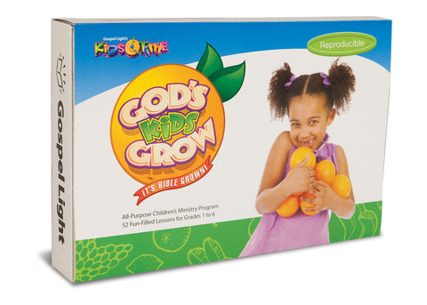 God's Kids Grow Kids Time Kit - 52 week course for ages 6-12 Sample