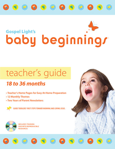 Gospel Light Baby Beginnings Teacher Guide 18-36 Months