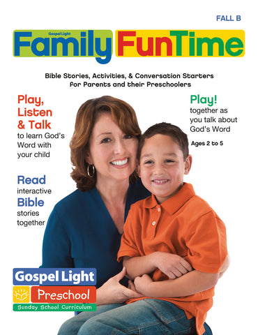 Gospel Light | Preschool / Pre-K Family FunTime Take Home | Fall Year B