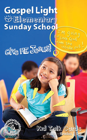 Kid Talk Cards - Elementary GR 1-2 - Fall Year B | Gospel Light