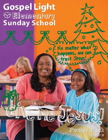Gospel Light | Elementary GR 1-4 Bible Teaching Poster Pack | Winter Year D