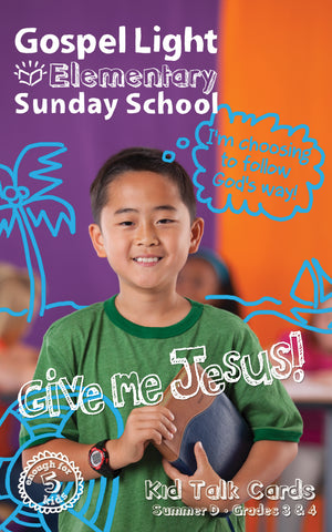 Gospel Light | Elementary GR 3-4 Kids Talk Cards | Summer Year D