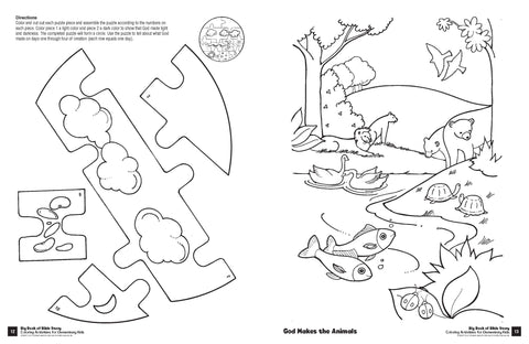 Big Book of Bible Story Coloring Activities for Elementary