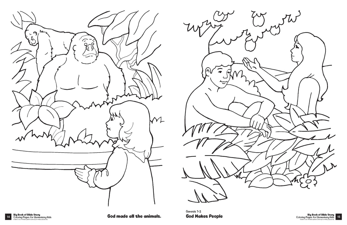 Big Book Of Bible Story Coloring Pages For Elementary Kids – David