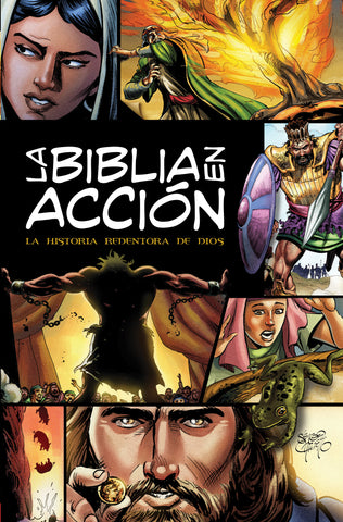 La Biblia en acción The Action Bible-Spanish Edition