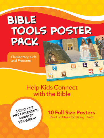 Bible Tools Poster Pack for Elementary Kids and Preteens