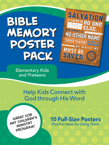Bible Memory Poster Pack for Elementary Kids and Preteens