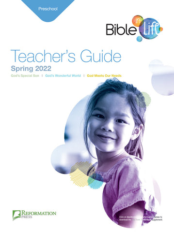 Bible-in-Life Preschool Teacher's Guide (Reformed Presbyterian edition) Spring 2018 Cover