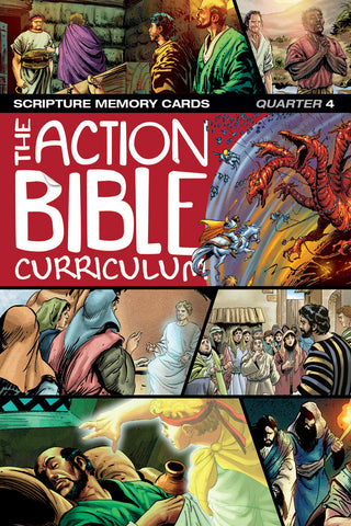 The Action Bible Scripture Memory Cards - ESV, NIV® or CSB - Print Quarter 4