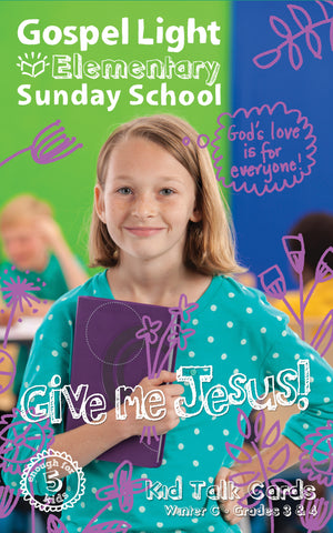 Gospel Light Elementary Kid Talk Cards Grades 3&4 | Winter Year C