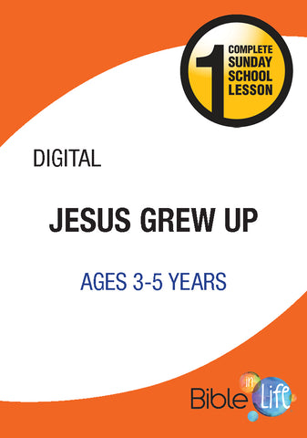 Bible-In-Life PreK Jesus Grew Up