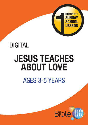 Bible-In-Life PreK Jesus Teaches about Love Cover