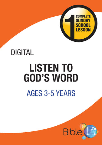 Bible-In-Life PreK Listen to God's Word Cover