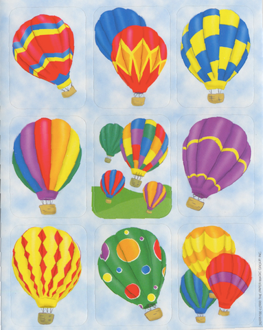 Scripture Press Hot Air Balloon Stickers (2s & 3s)
