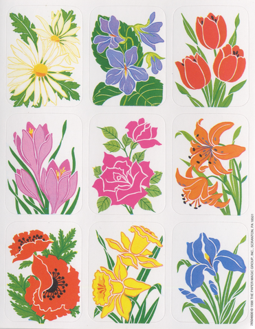 Accent Primary Flowers Stickers Pack