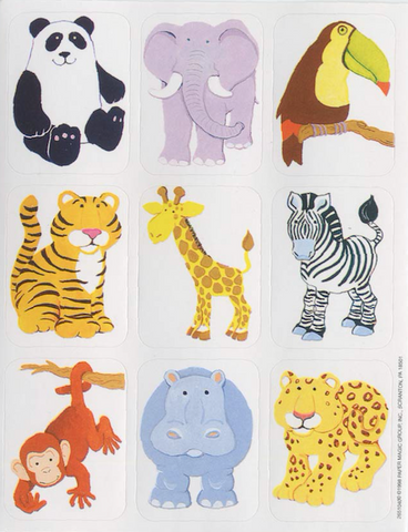 Jungle Animals Stickers (2s & 3s)