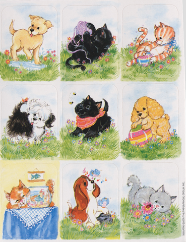 Puppies and Kittens Stickers