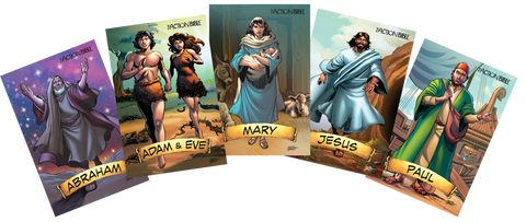 Action Bible VBS Trading Cards - Pack of 25 Sets