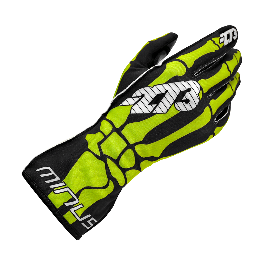 SKELETAL Black/Fluo Green/White GLOVE