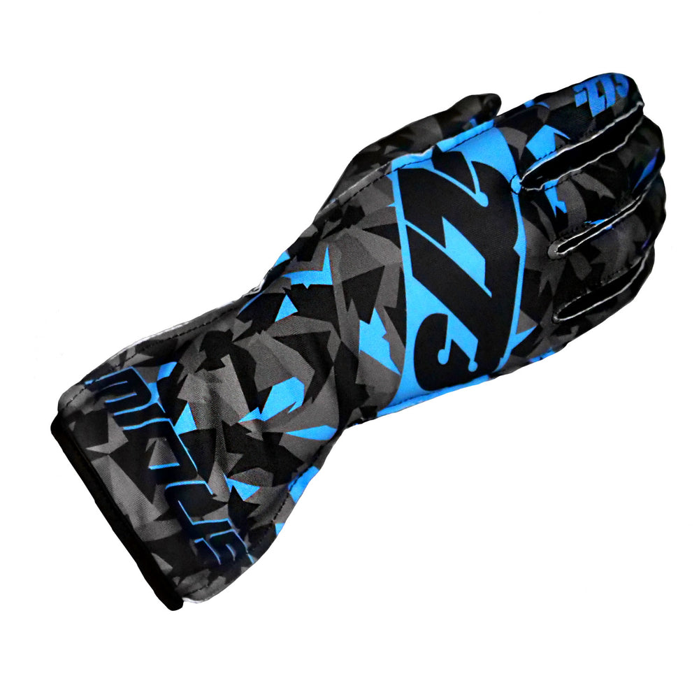 CAMO Black/Gray/Cyan GLOVE