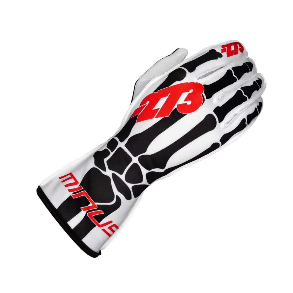 SKELETAL White/Black/Red GLOVE