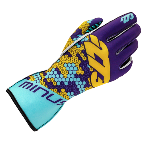 BUZZZ Violet/Turquoise/Yellow GLOVE