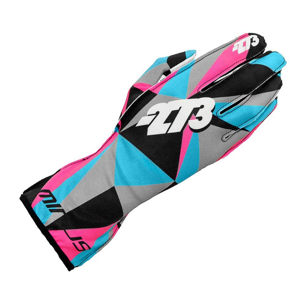 POLY Karting Glove Cyan