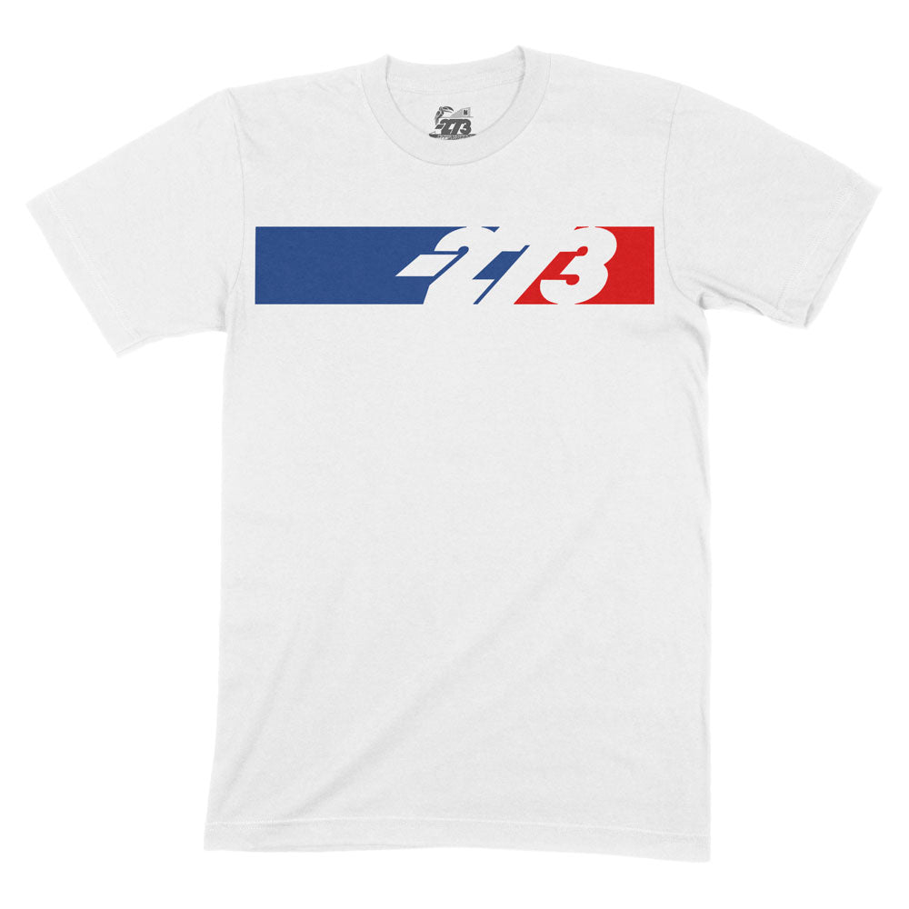 PIT Tee White/Blue/Red