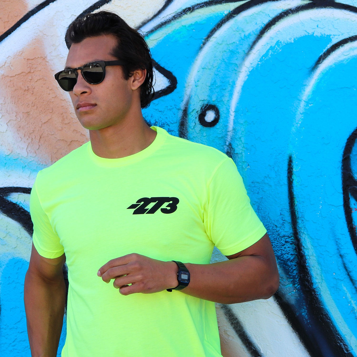 CORP II Tee HiViz Yellow/Black