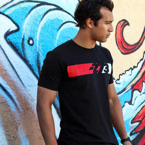 PIT Tee Black/Red/White