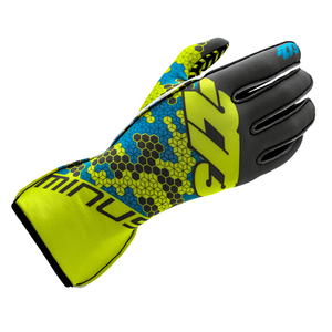 Load image into Gallery viewer, BUZZZ Gray/Fluo Yellow/Cyan GLOVE