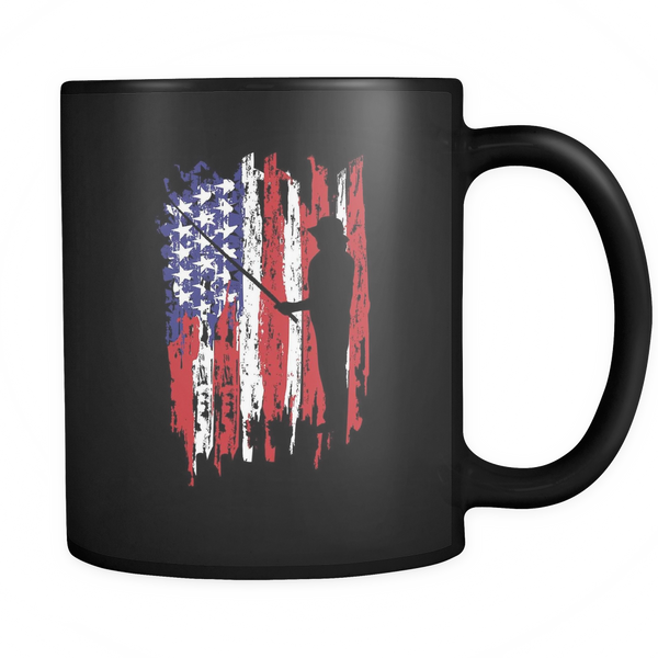 Fisherman US Flag Mugs