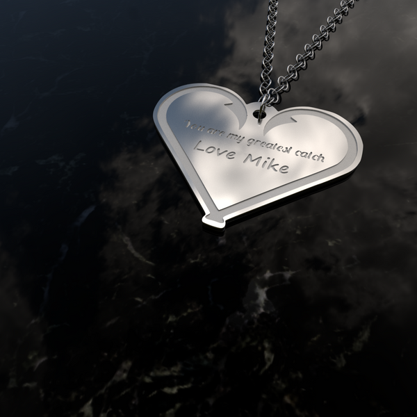 You Are My Greatest Catch Sterling Silver Necklace