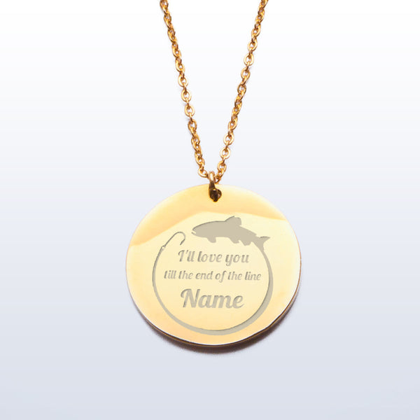 I'll love you till the end of the line Necklace