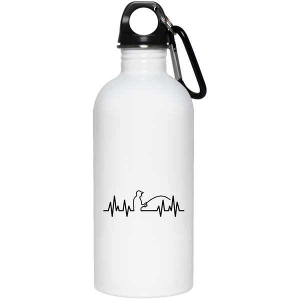 Fisherman Heartbeat Water Bottle
