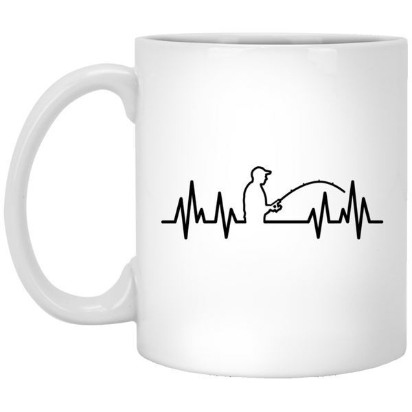 Fisherman Heartbeat Mugs