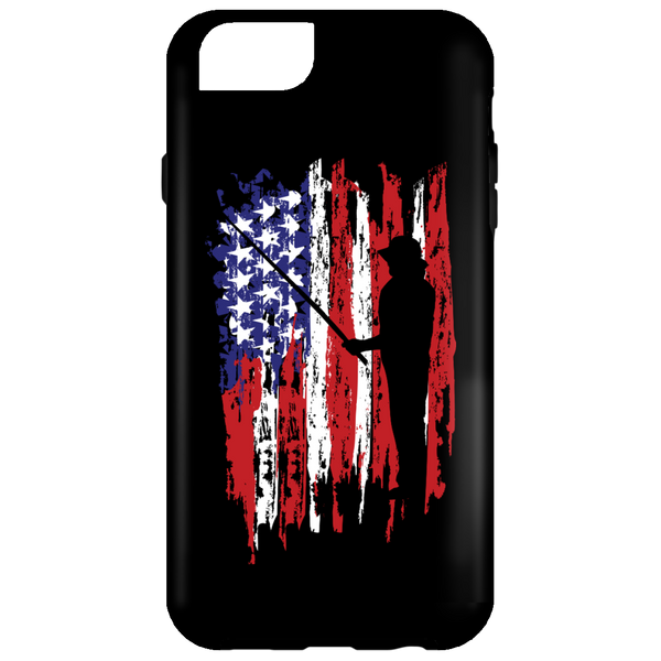 Fisherman US Flag iPhone Cases