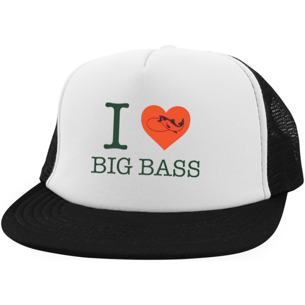 I Love Big Bass Trucker Hat - Fishing Mind